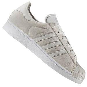 👟 Adidas Originals Gray Superstar Trainers Suede